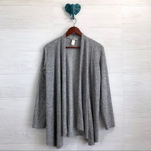 H&M Heathered Gray Cozy Soft Open Front Cardigan